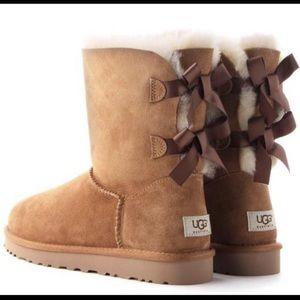 Bailey Bow Tan Ugg Boots